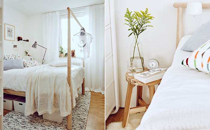 interior, modern living, scandi, scandinavian design, ikea, young living, wood, flowers, daylight, white girlie