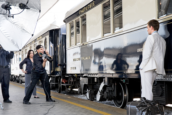 Photoshoot Backstage for CBS TV. The location is Venice (Train Station)