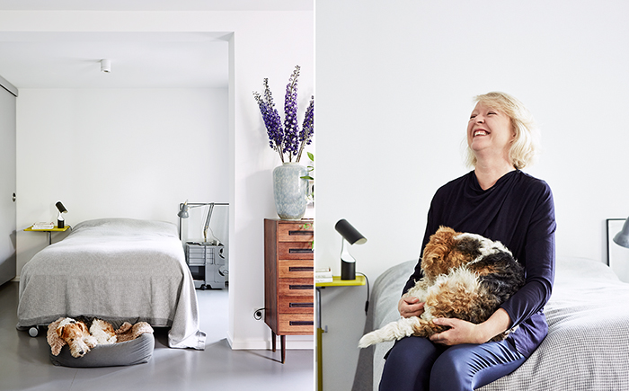 people, modern living, scandinavian design, fun, living with dogs, dogs, woma, at home