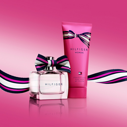 This was a photoshoot of a gift set for Tommy Hilfiger. The new release of 'Cheerfully Pink Body Wash' was a support product for the very successful EDT Released of 'Cheerfully Pink' in December of 2013.