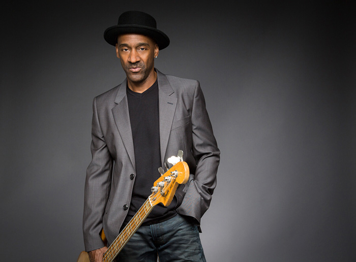 Bassist / Composer Marcus Miller photographed in Los Angeles