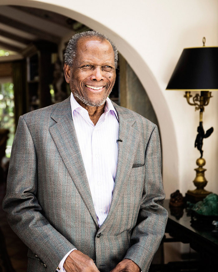 Icon Sidney Poitier photographed in Beverly Hills