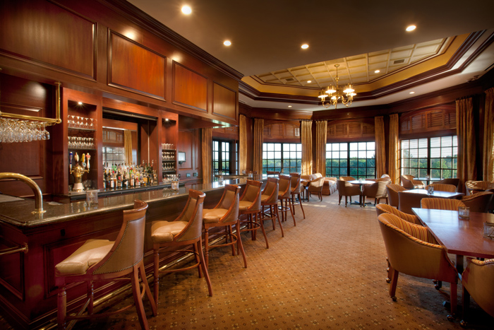 Interior photo of bar area at St. Ive's Country Club, John's Creek Georgia