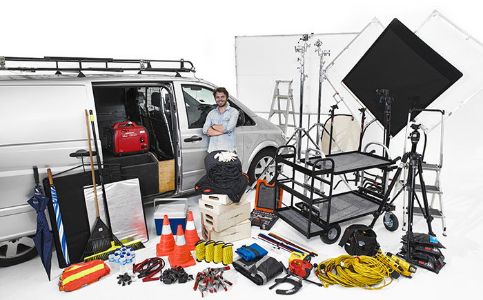 Eleven40 has two production vans which are available for hire along with an experienced assistant to help wrangle all the gear. Vans come with a base level of grip & gear then you add the lighting & camera equipment of you choice.