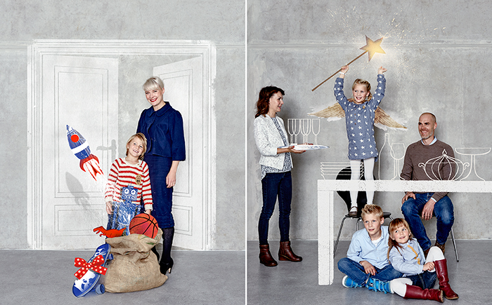 people, portrait, familiy, kids, children, studio, christmas