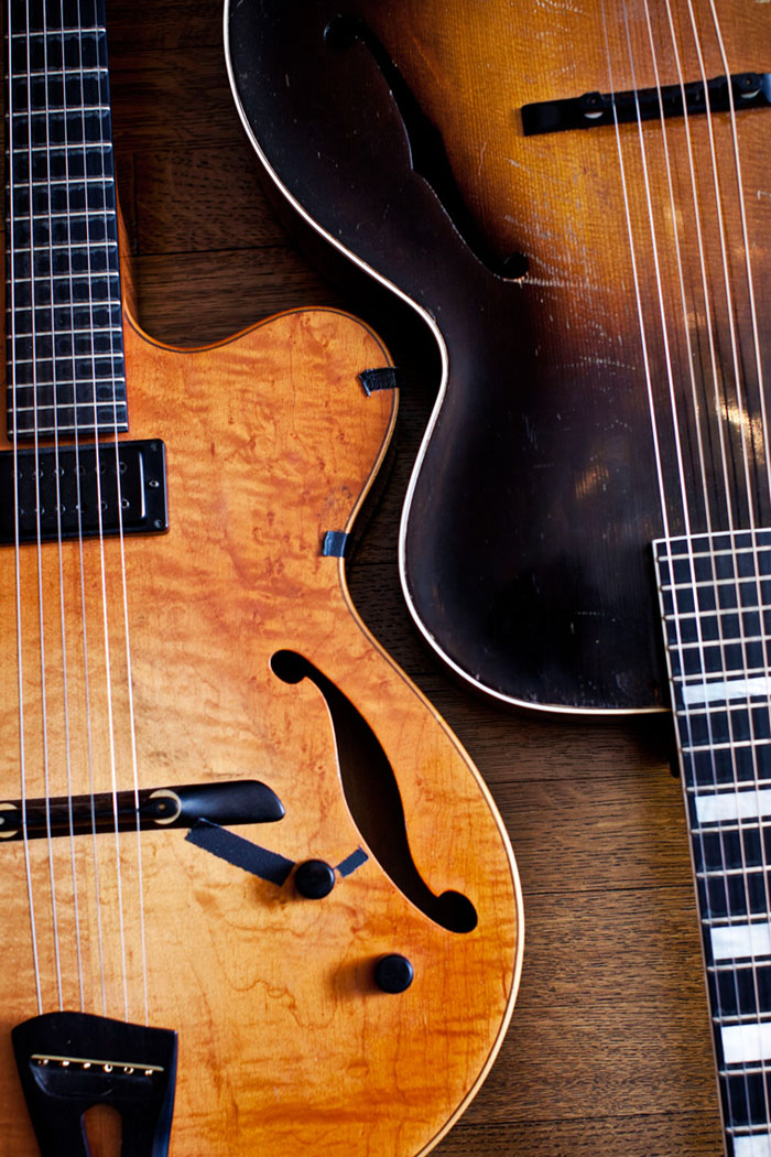 Guitarist / Composer Julian Lage's guitars photographed in New Jersey for Universal Music Group