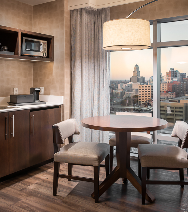 Junior suite with views of downtown, city hall
