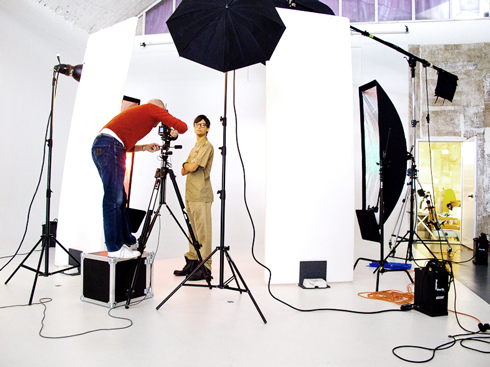 Photoshoot Backstage for Wired magazine. The location is our Limbo Photo Studio.