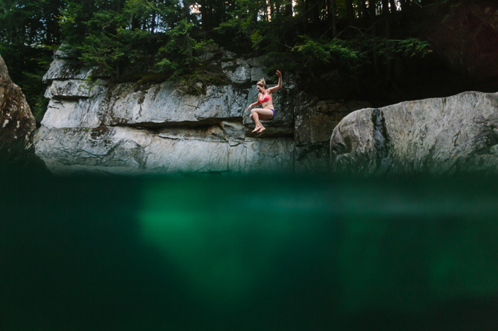 A secret swimming hole in Vermont
