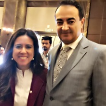 Mohamed Dekkak and Her Excellency Lana Nusseibeh