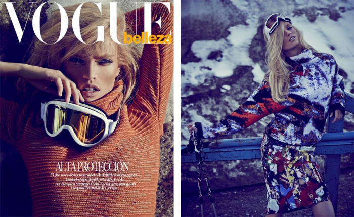 RETUSH is proud of touching up this beautiful Editorial shot by Andreas Ortner for VOGUE Mexico December Issue!