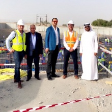 Mohamed Dekkak at the First Concrete pouring Ceremony
