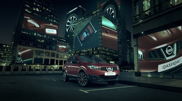 Nissan Qashqai 360 Connected to the City, cityscape parks around the Qashqai