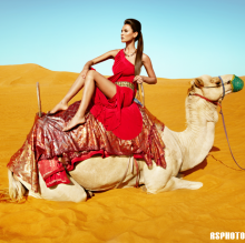 Desert Camel Rock, Fashion Editorial