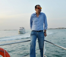Mohamed Dekkak & Abderrahim Khaoutem having the Sea adventure on exotic Yacht at Dubai