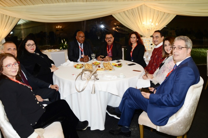 Mohamed Dekkak with Rajaa Choukri (Sky News) at the first forum of Skilled Moroccans Residing in the UAE