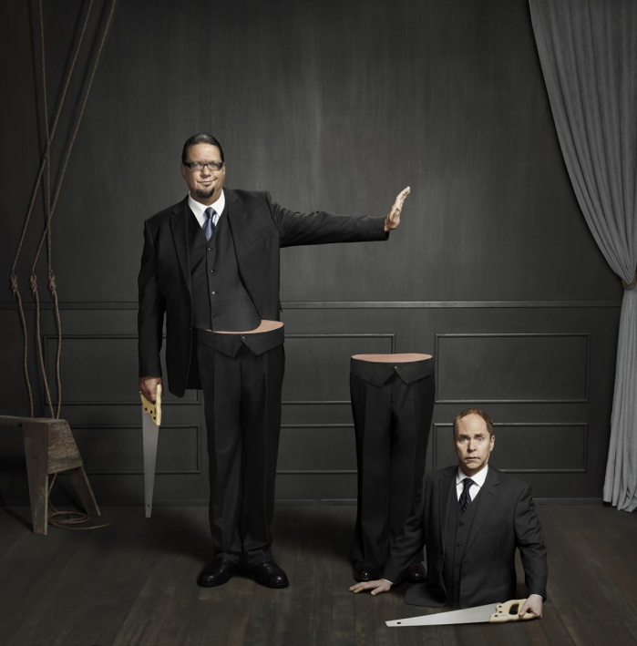 Part of a three image advertising campaign to promote the duo's nightly magic show at the Rio Hotel in Las Vegas.