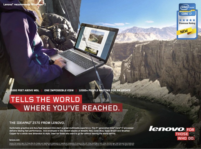LENOVO COMPUTERS INTENATIONAL CAMPAIGN