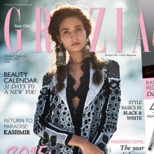 Rikee Chatterjee - GRAZIA India (January 2015)