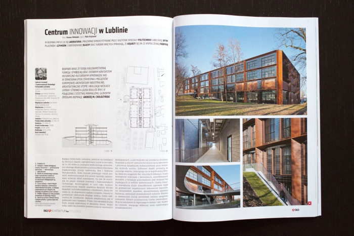 Centre for Innovation and Advanced Technologies of the Lublin University of Technology in Lublin - Architektura Murator 02/2016