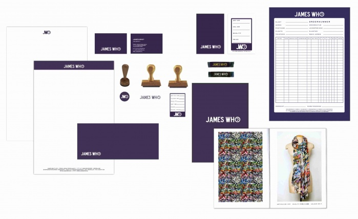 Branding and graphic design of the scarf brand James Who?