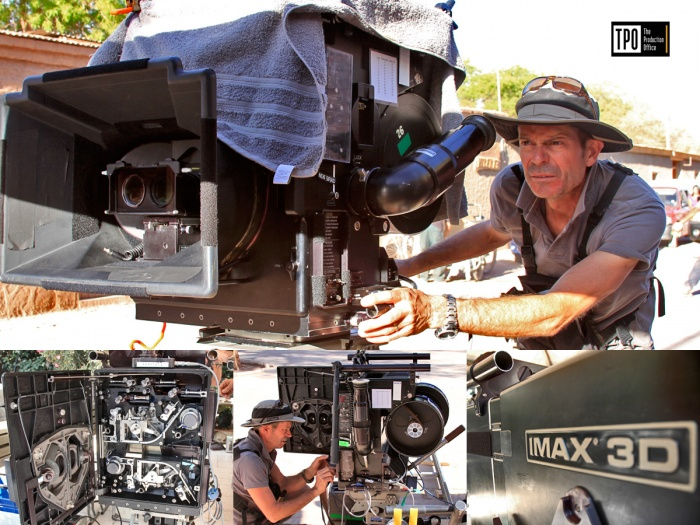 Shooting Imax 3D in the Atacama desert.