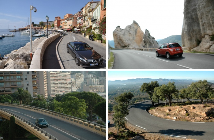 Streets, roads and highways for car shooting in south of France