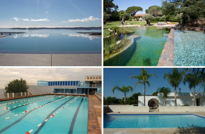 Amazing pools, public pools for film and photo shooting in Saint Tropez and Monaco