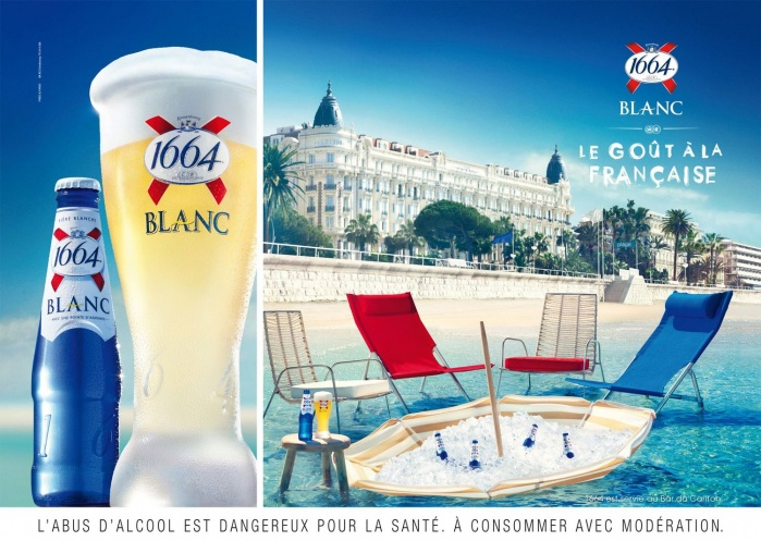 Photo shoot for 1664 beer in Cannes