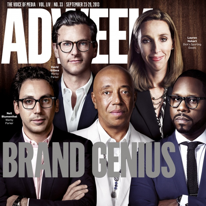 This issue was to celebrate the top fifteen most succesful brand managers within the United States. The task to create this fold out cover was a well coordinated project, with seven photographers in seven different location. My task was to retouch them all to look as they were shot together. The brief was to find a styling for the picture, build up a background from a separate image and retouch each manager, then composite the spread.