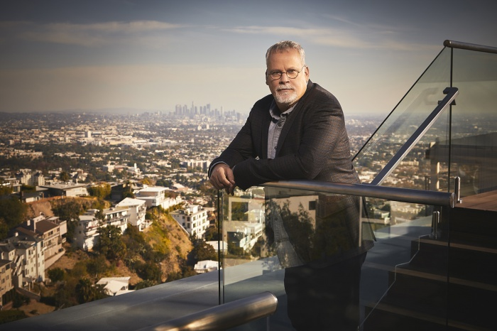 He is an American author of detective novels. Photographed for Emmy Magazine in Los Angeles