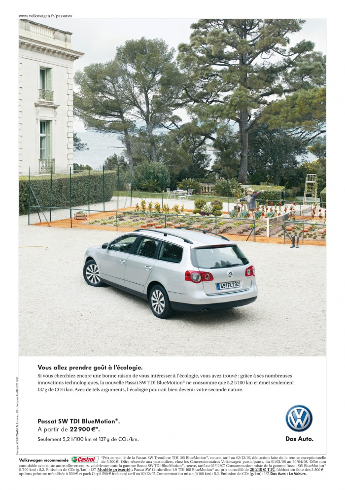 Car shooting for VW in a wonderfull house in Antibes