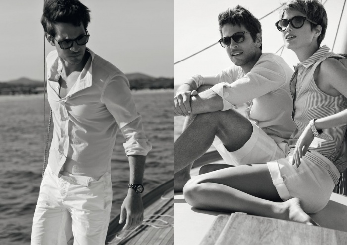 Boat shooting for Armani