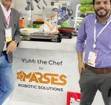 Mohamed Dekkak and Mohamed Abdel Rahman Business Develop Manager MARSES Robotic Solution at Gulfood