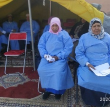 Patients of Cataract are being treated by the mobile medical caravan in Ait Faska El Haouz Marrakech