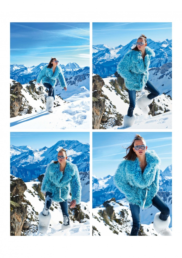 Snow shooting for French vogue