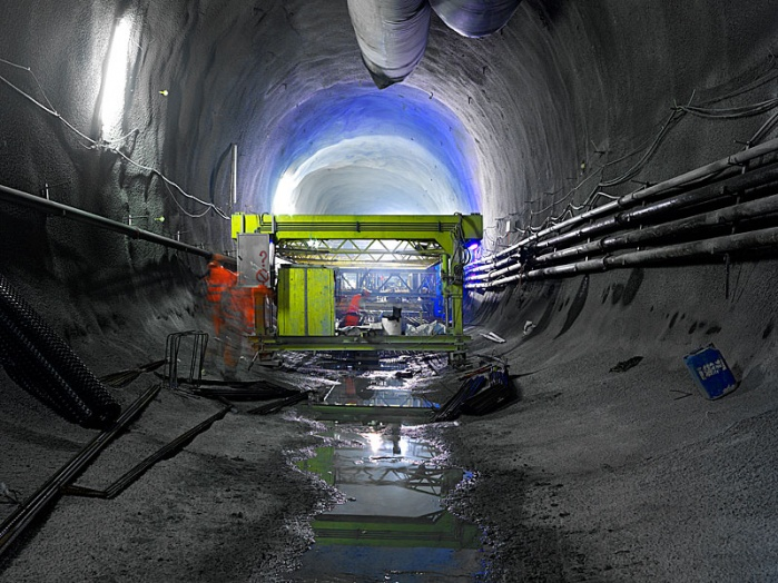 Alptransit,  longest and deepest railway tunnel in the world, under construction.