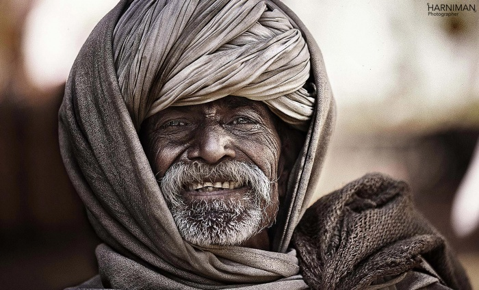 Rajasthan turban man portrait