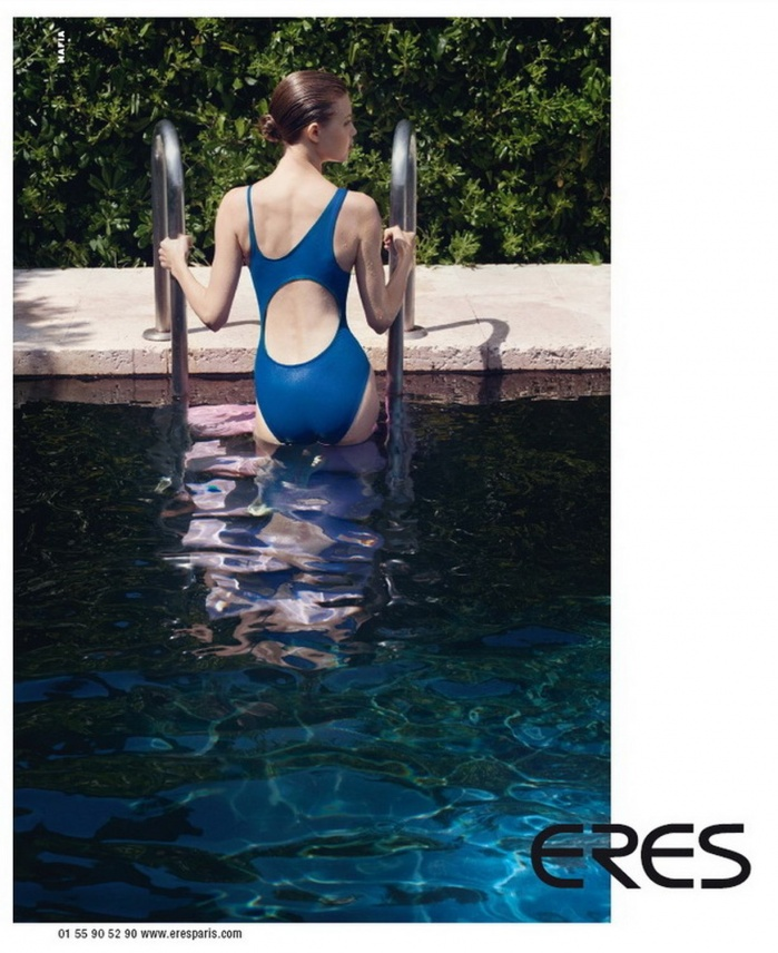 Swimwear photo shooting in an amazing 30th house on cote d'azur for Eres