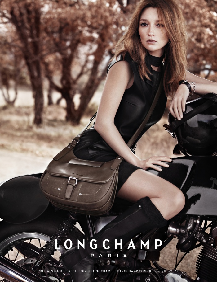 Longchamp bags campaign in Provence