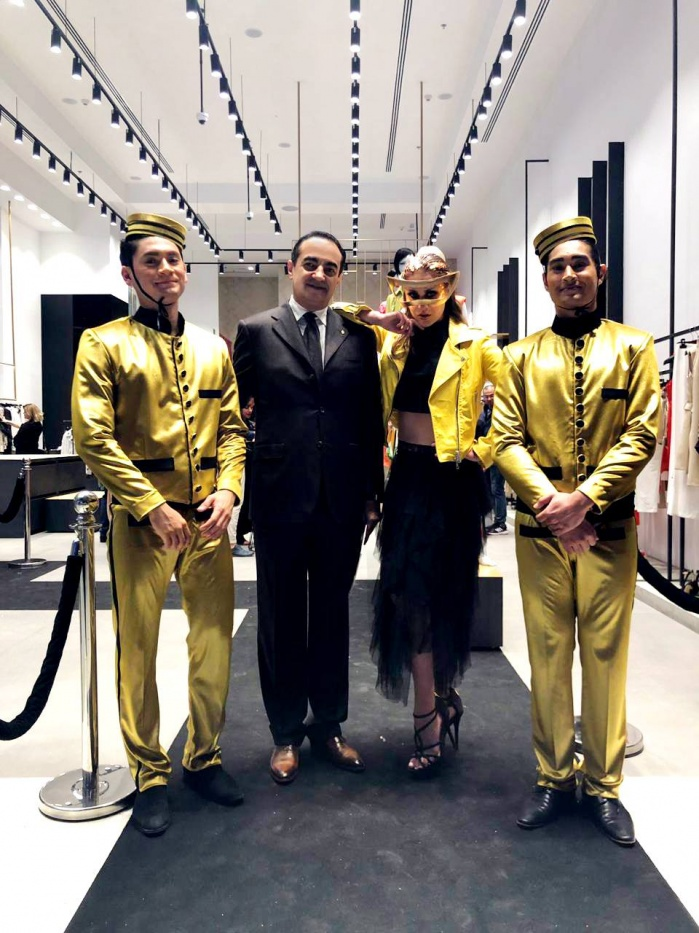 Mohamed Dekkak at Lauching of Imperial SS19 Collection Now Open in Dubai Mall