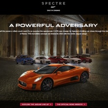 Jaguar CX-75 SPECTRE Bond movie launch