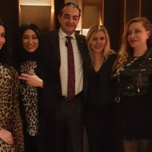 Mohamed Dekkak with Yasmine El Senussi, Laila Rahhall and Anna Perrotta / Fashion Show by Glitz and