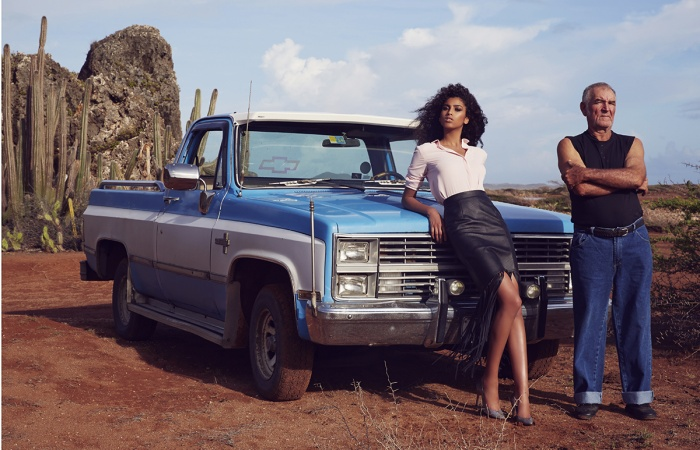 ★ Photography: Klaas Jan Kiphuis | Styling: Roel Schagen | Hair & Make-up: Suzanne Verbeek | Model: Imaan Hammam via Code Management | Production: Chicas Productions