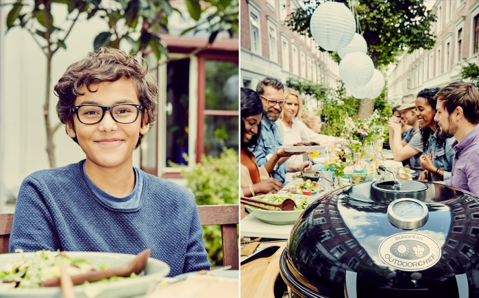 outdoor, people, garden, family feast, barbecue, neighborhood, portrait, boy, fun, having a good time, picknick