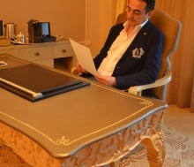 Mohamed Dekkak and Abderrahim Khaoutem's visit to Emirates Palace
